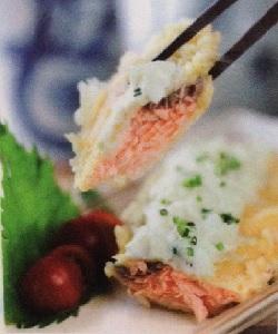 resep salmon wasabi mayo