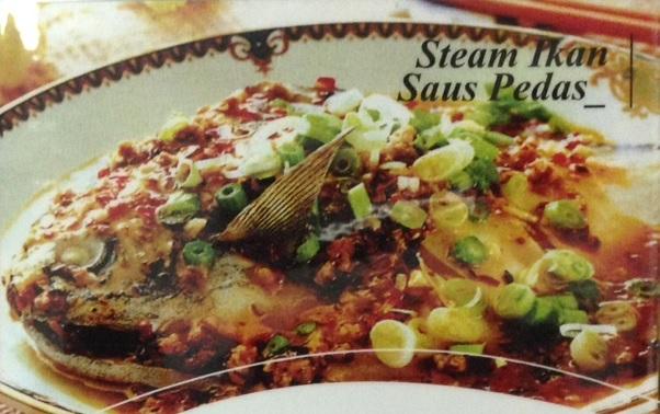 Steam ikan saus pedas